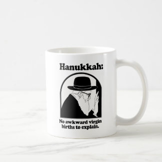 Hanukkah - No awkward virgin births Mugs