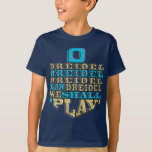 "Hanukkah ""O Dreidel Dreidel Dreidel"" Kid's T-Shirt<br><div class=""desc"">Hanukkah ""O Dreidel Dreidel Dreidel Now Dreidel I Shall Play"" Choose from many different shirt colors, styles, and sizes for this design! Thanks for stopping and shopping by! Much appreciated! Happy Chanukah/Hanukkah! Style: Kids"