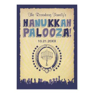 "Hanukkah Palooza Invitation 5"" X 7"" Invitation Card"