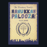 "Hanukkah Palooza Invitation<br><div class=""desc"">Who's ready to rock all eight nights? You are. Make your Hanukkah Party an event to remember. All of the printed information can be customized with your party details…just fill in the fields!</div>"
