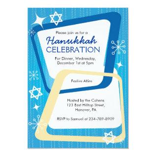 Hanukkah Party Invitations Retro at Zazzle