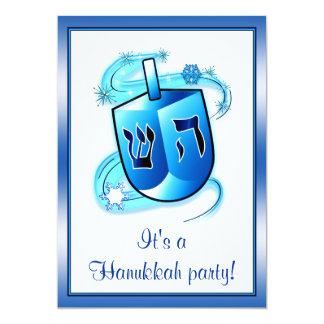 Hanukkah Party with Spinning Dreidel Announcements