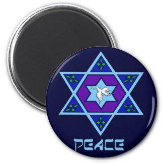 Hanukkah Peace Art 2 Inch Round Magnet