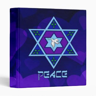 Hanukkah Peace Art 3 Ring Binder