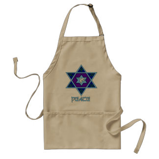 Hanukkah Peace Art Adult Apron