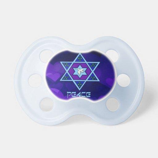 Hanukkah Peace Art BooginHead Pacifier