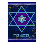 Hanukkah Peace Art Large Business Cards (Pack Of 100)