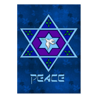 Hanukkah Peace Art Business Card Template