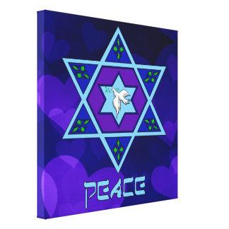 Hanukkah Peace Art Canvas Print