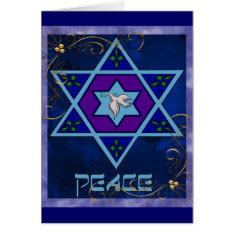 Hanukkah Peace Art Card at Zazzle