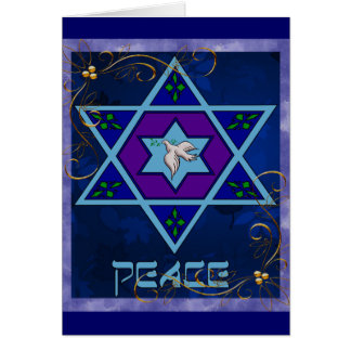 Hanukkah Peace Art Card