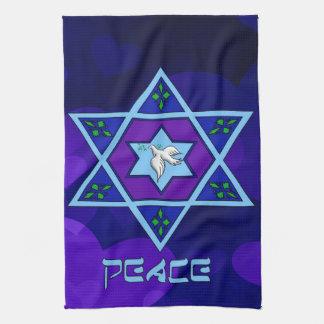 Hanukkah Peace Art Hand Towel