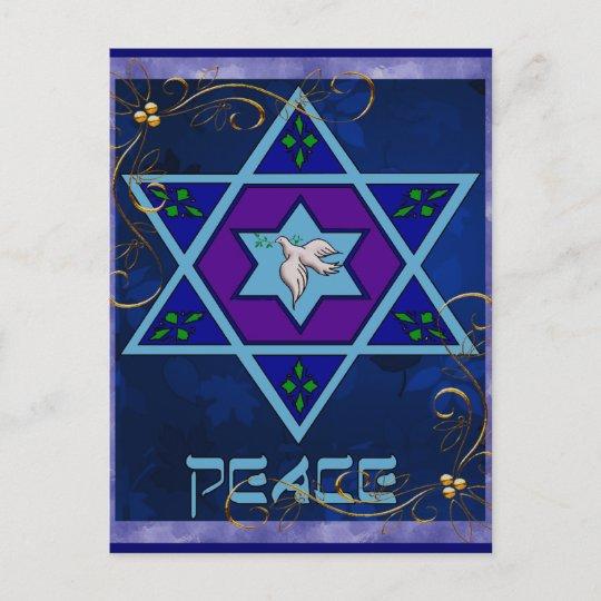 Hanukkah Peace Art Holiday Postcard