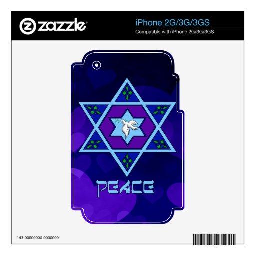 Hanukkah Peace Art iPhone 3 Decals