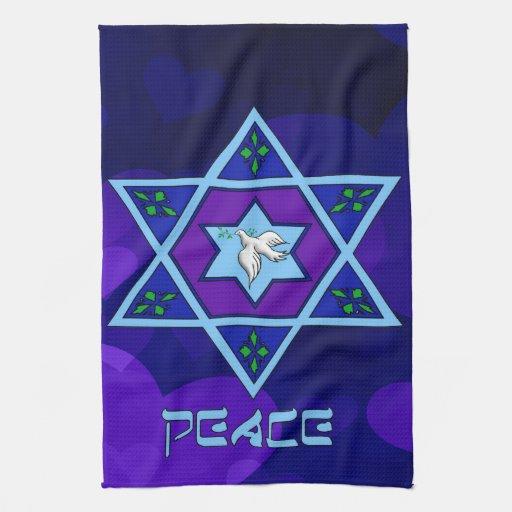 Hanukkah Peace Art Kitchen Towels