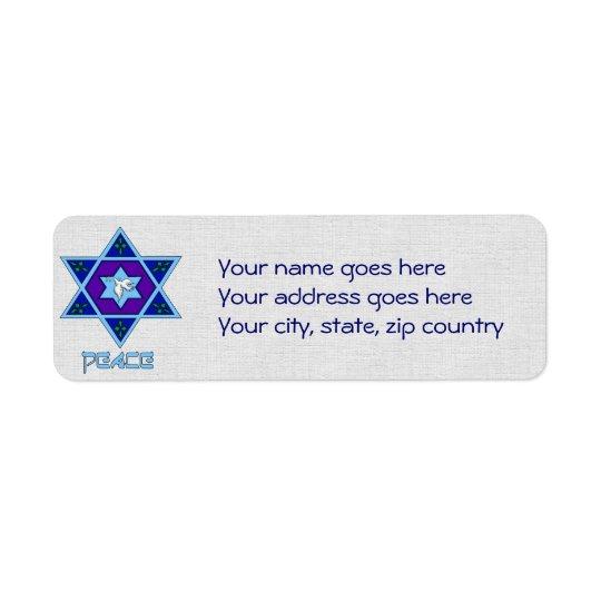 Hanukkah Peace Art Label