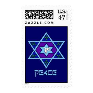 Hanukkah Peace Art Postage