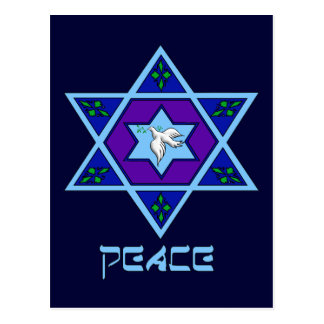 Hanukkah Peace Art Postcard