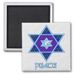 Hanukkah Peace Art Refrigerator Magnet