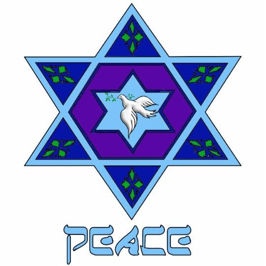 Hanukkah Peace Art Statuette