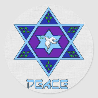 Hanukkah Peace Art Sticker