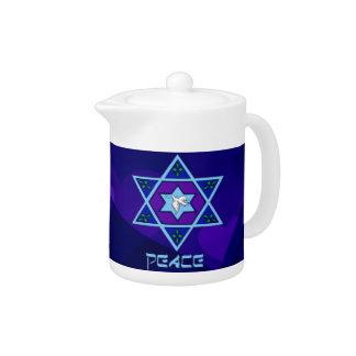 Hanukkah Peace Art Teapot