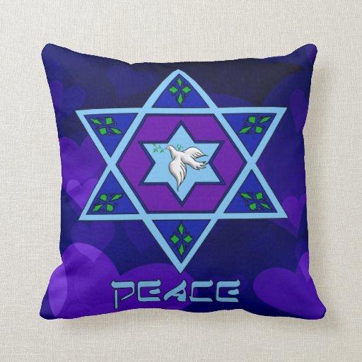 Hanukkah Peace Art Throw Pillow