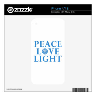 Hanukkah - Peace Love Light Decal For iPhone 4S