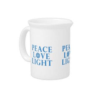 Hanukkah - Peace Love Light Pitcher