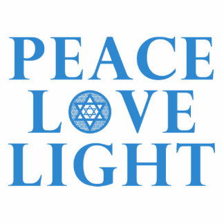 Hanukkah - Peace Love Light Statuette