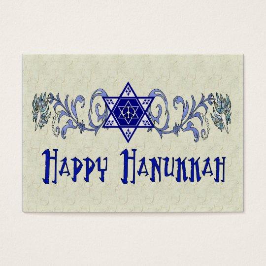 Hanukkah Peace Star Business Card