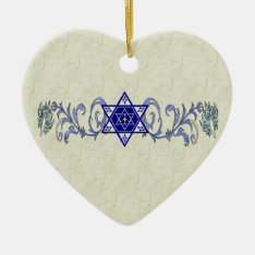 Hanukkah Peace Star Ceramic Ornament at Zazzle