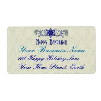 Hanukkah Peace Star Label