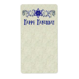 Hanukkah Peace Star Shipping Labels