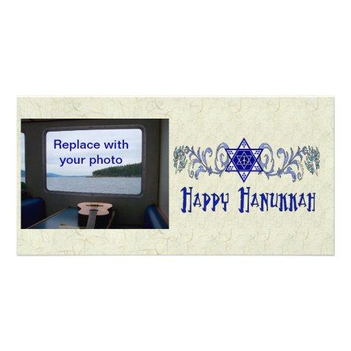 Hanukkah Peace Star Photo Greeting Card
