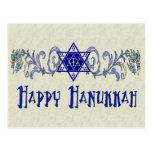 Hanukkah Peace Star Postcard