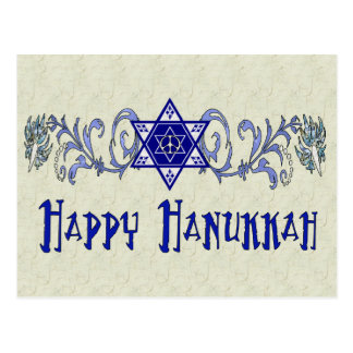 Hanukkah Peace Star Postcard