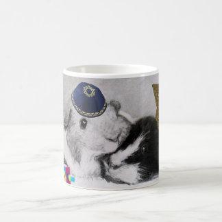 Hanukkah Peegs Guinea Pigs Wraparound Classic White Coffee Mug