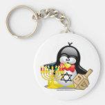 Hanukkah Penguin Keychain