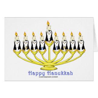Hanukkah Penguins Card