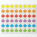 """Hanukkah Personalize Giftwrap """"Dreidel Colors"""" Wrapping Paper<br><div class=""""desc"""">Personalize your very own Hanukkah Gift Wrapping Paper """"Dreidel Colors"""" Personalize by deleting text, """"The Steins"""" """"Happy"""" and """"Hanukkah"""" and adding your own text on wrapping paper. Choose your favorite font style, color, and size. Lots of text editing tools, too. Make it fun! Enjoy my newest wrapping paper design. Price...</div>"""