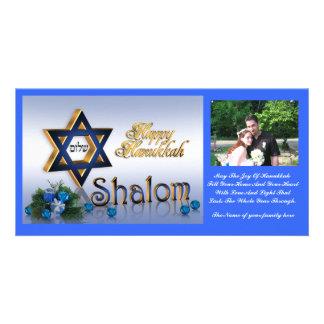 Hanukkah Photo card Star of David