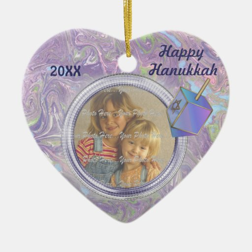 Hanukkah Photo Greetings Ornament