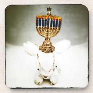Hanukkah Photo Holiday Greeting Card Coaster