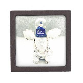Hanukkah Photo Holiday Greeting Card Jewelry Box