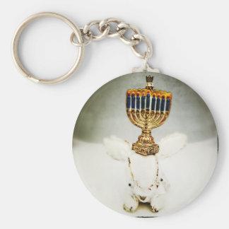 Hanukkah Photo Holiday Greeting Card Keychain