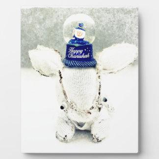 Hanukkah Photo Holiday Greeting Card Plaque