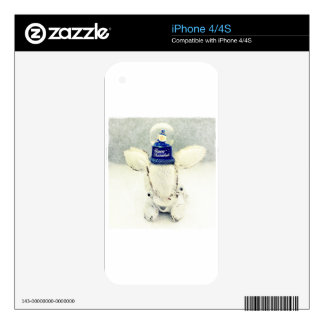 Hanukkah Photo Holiday Greeting Card Skin For iPhone 4