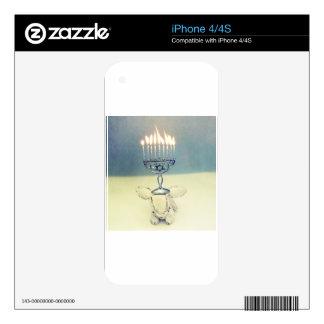 Hanukkah Photo Holiday Greeting Card Skins For iPhone 4