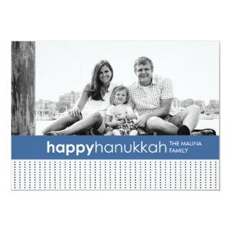 Hanukkah Polka Dot Photo Card